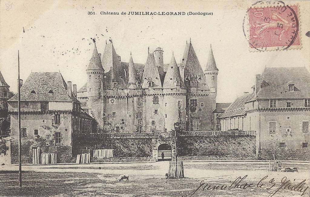 Post card of the castle during the 20th century