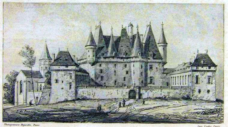 Gravure château de Jumilhac
