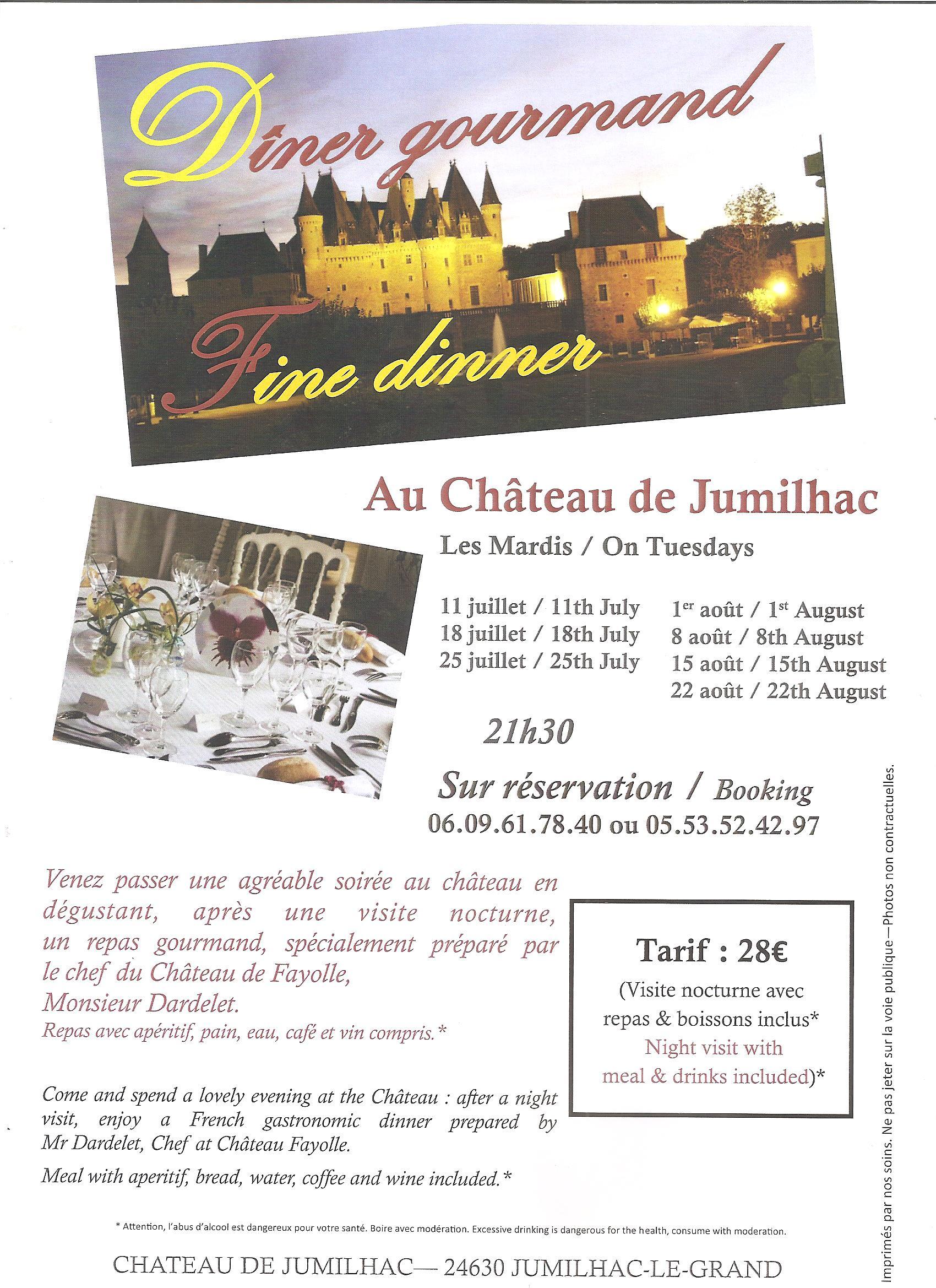 Dîners gourmands au Château